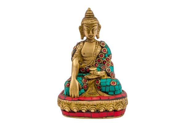 Buddha with Meenakari