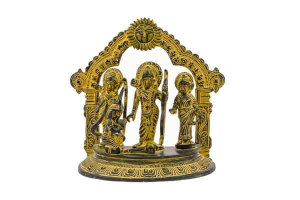 Ram Darbar – Black Finish Statue